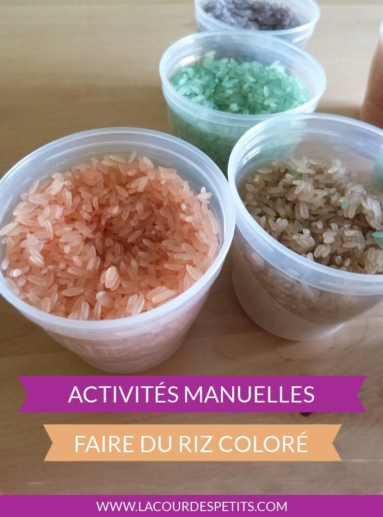 Bocaux de riz coloré