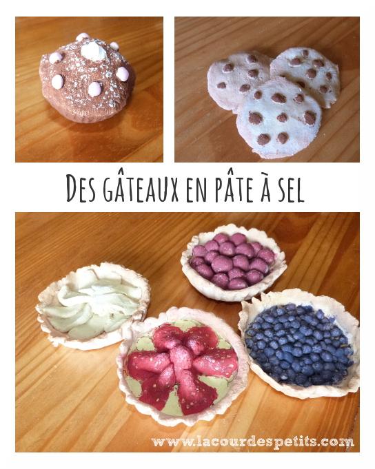 Des gâteaux en pâte à sel