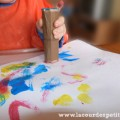 Peinture au tampon carton