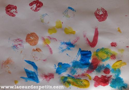 Peinture au tampon carton Mr Y.