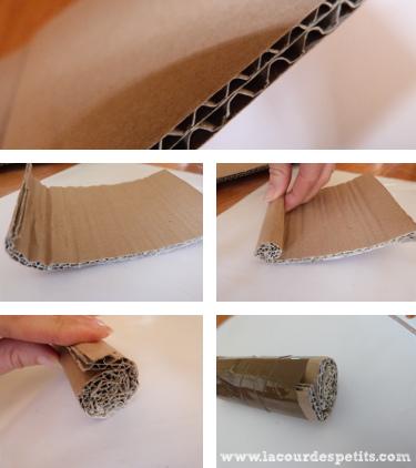Rouler le tampon en carton