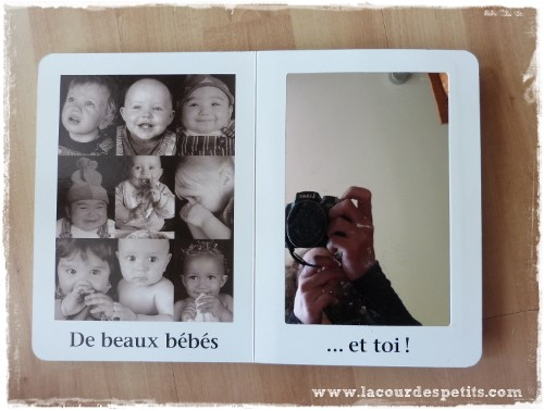 Beaucoup de beaux bébés miroir