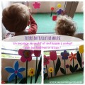 Bricolage fleur feuille de mousse