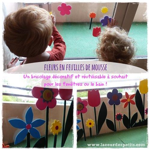 bricolage avec du papier mousse des fleurs pour les. Black Bedroom Furniture Sets. Home Design Ideas