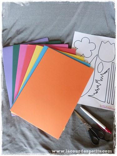 Bricolage avec du papier mousse des fleurs pour les fen tres la cour des p - Materiel de bricolage ...