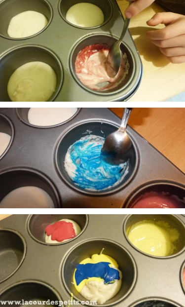 Mélange couleurs peinture gonflante