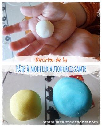 Recette pâte à modeler autodurcissante