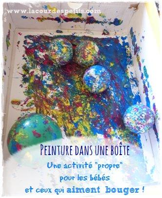 Peinture pour bébé dans une boîte
