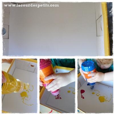 Peinture bébé mise en place