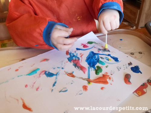 Peinture gonflante en cours