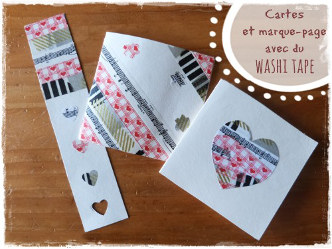 Cartes et marque page en washi tape