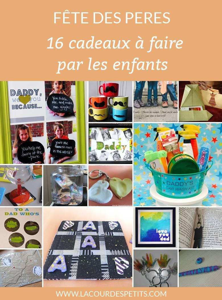 16 Idées De Cadeaux à Fabriquer Pour La Fête Des Pères La Cour Des
