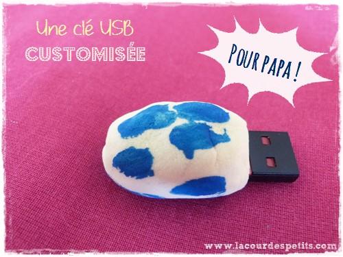 Clé USB customisée pour la fête des pères