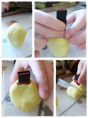 Clé USB en pâte autodurcissante