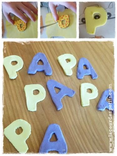 Découpe lettres pâtes autodurcissante