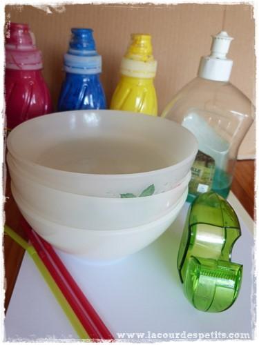 Peinture à bulles matériel
