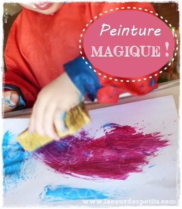 Peinture magique enfant bougie