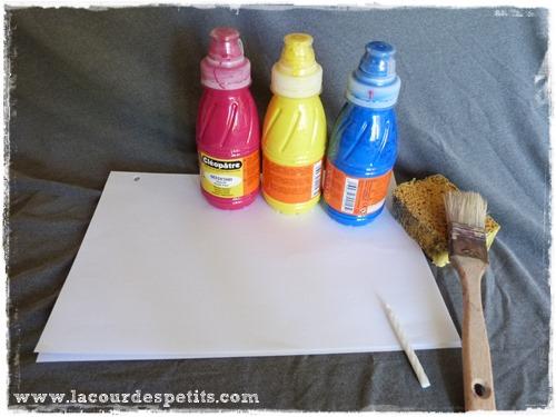 Peinture magique matériel