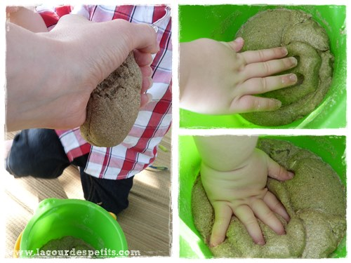 Recette du moon sand le sable modeler fait maison la cour des petits - Comment compacter du sable ...