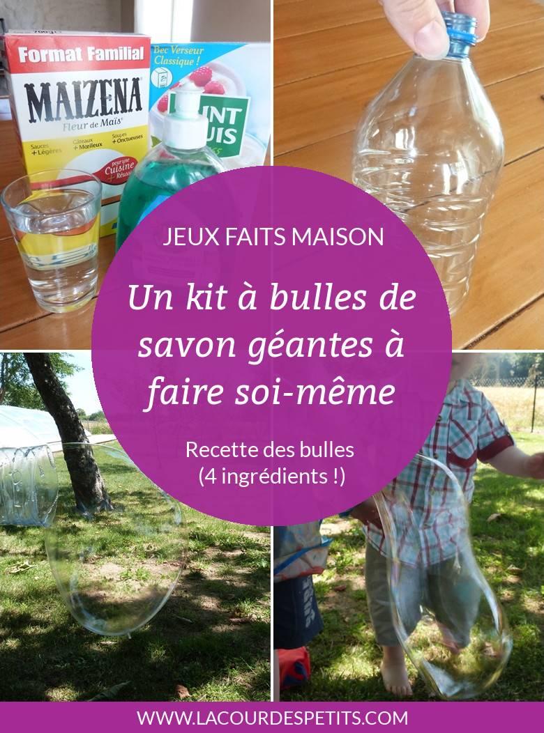 Un Kit à Bulles De Savon Géantes Fait Maison La Cour Des Petits