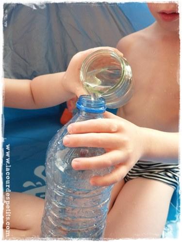 Expérience air eau enfant