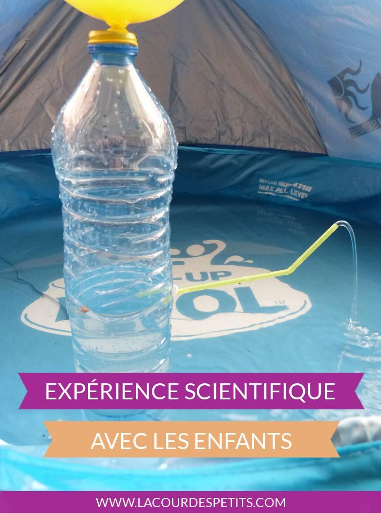 Expérience scientifique bouteille