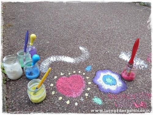 Peinture sur trottoir