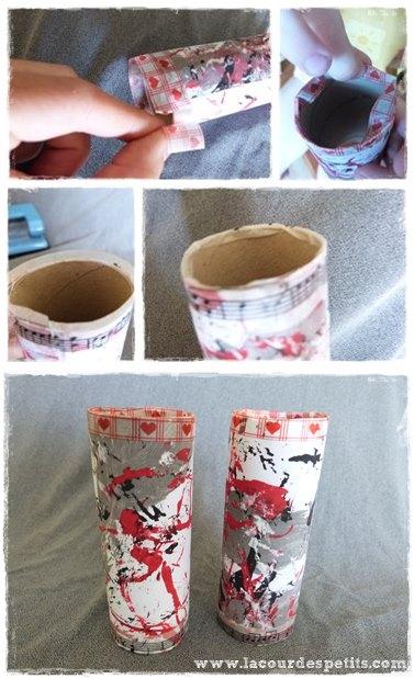 Bricolage en rouleau de papier toilette 4 les jumelles - Diy rouleau papier toilette ...