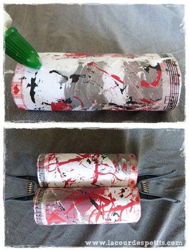 Bricolage rouleau papier toilette colle