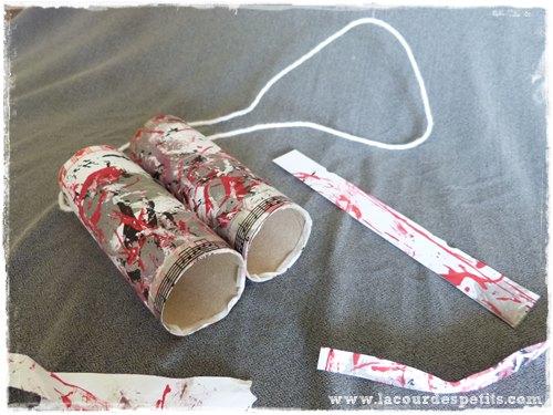 Bricolage rouleau papier toilette enfant