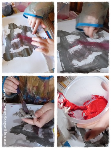 Peinture avec laine