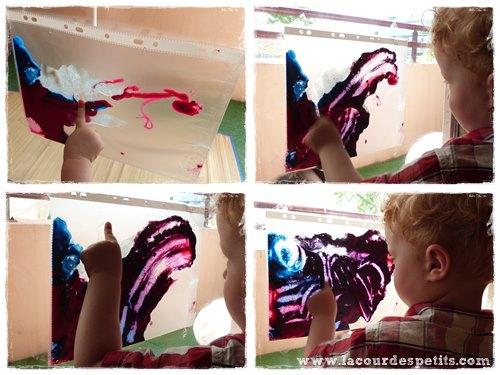 Peinture propre en sac bebe