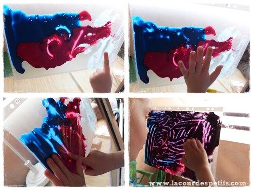 Peinture propre en sac enfant