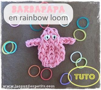 Tuto Barbapapa rainbow loom
