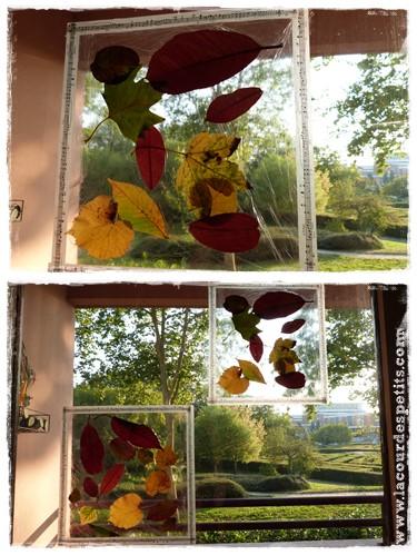 Activité automne enfant suncatcher
