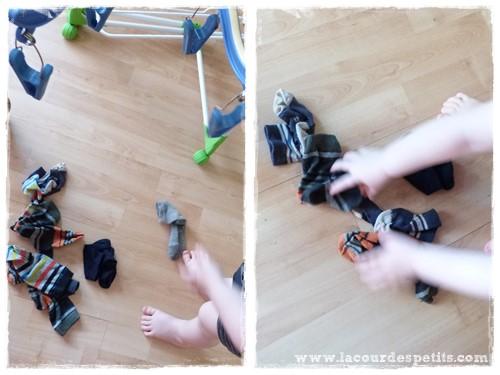 Activité tri de chaussettes