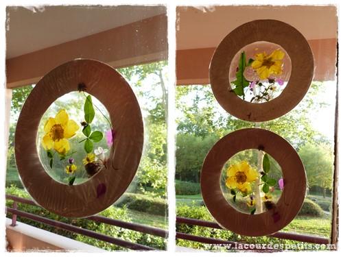 Activit d 39 automne des feuilles nos fen tres la cour for Decoration fenetre printemps