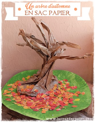 Bricolage automne arbre sac en papier