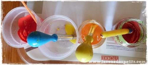Bricolage automne couleur peintures