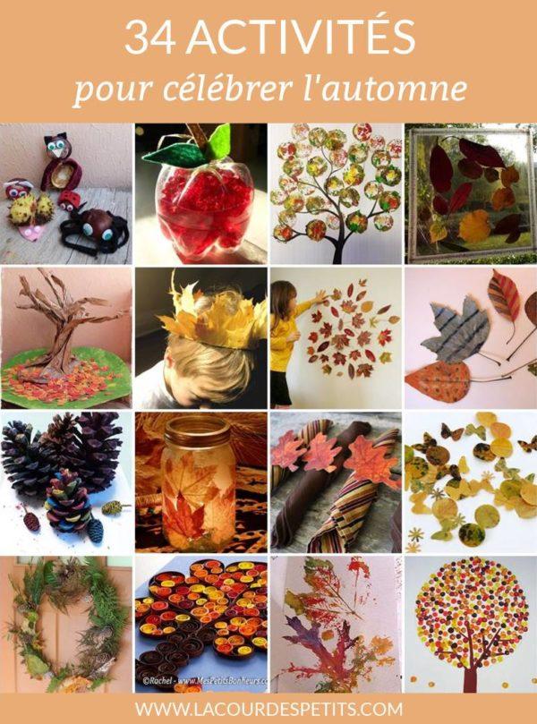 De belles idées pour occuper les enfants avec des bricolages d'automne