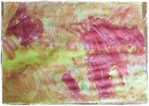 Bricolage automne feuille peinte