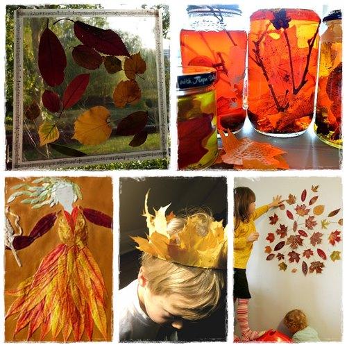 ... première pour faire ces bricolages à base de feuilles d'automne