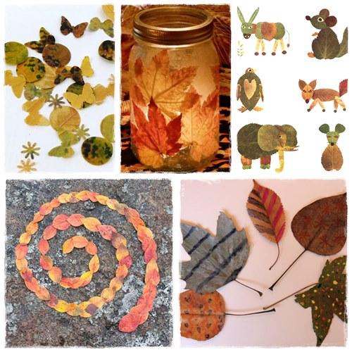 ... et activités avec tout ce qu'on peut ramasser d'autres en automne