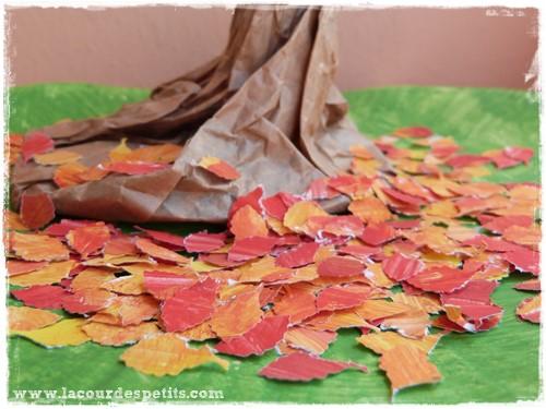 arbre en sac papier : un bricolage dautomne original La cour des ...