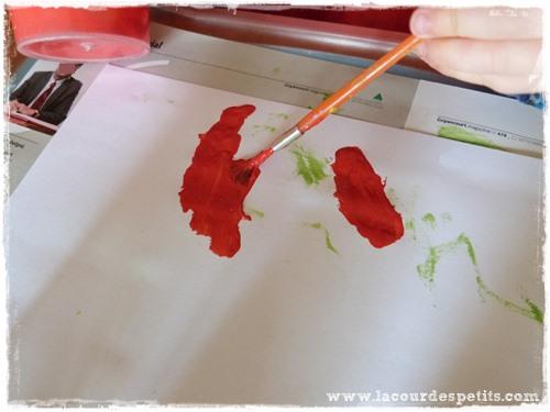 Bricolage automne peinture feuille