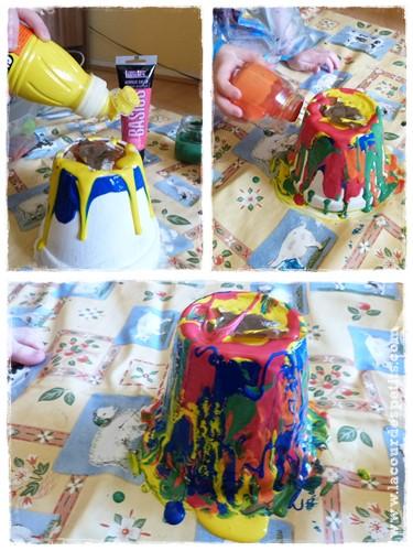 Un cadeau fabriquer par les enfants le pot de fleurs for Cadeau pour la maison