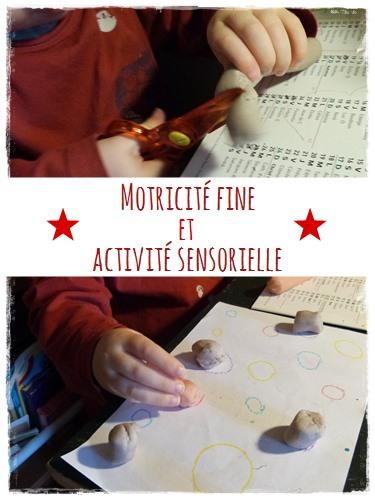 Motricite fine et activite sensorielle