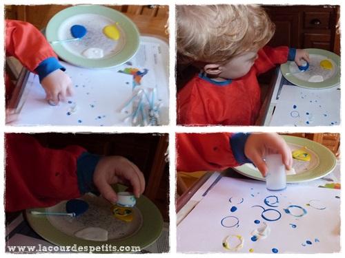 Peinture Enfant Sans Pinceaux Bouchon