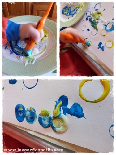 Peinture enfant sans pinceaux ronds