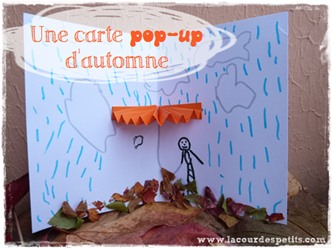 Bricolage automne carte pop-up Une